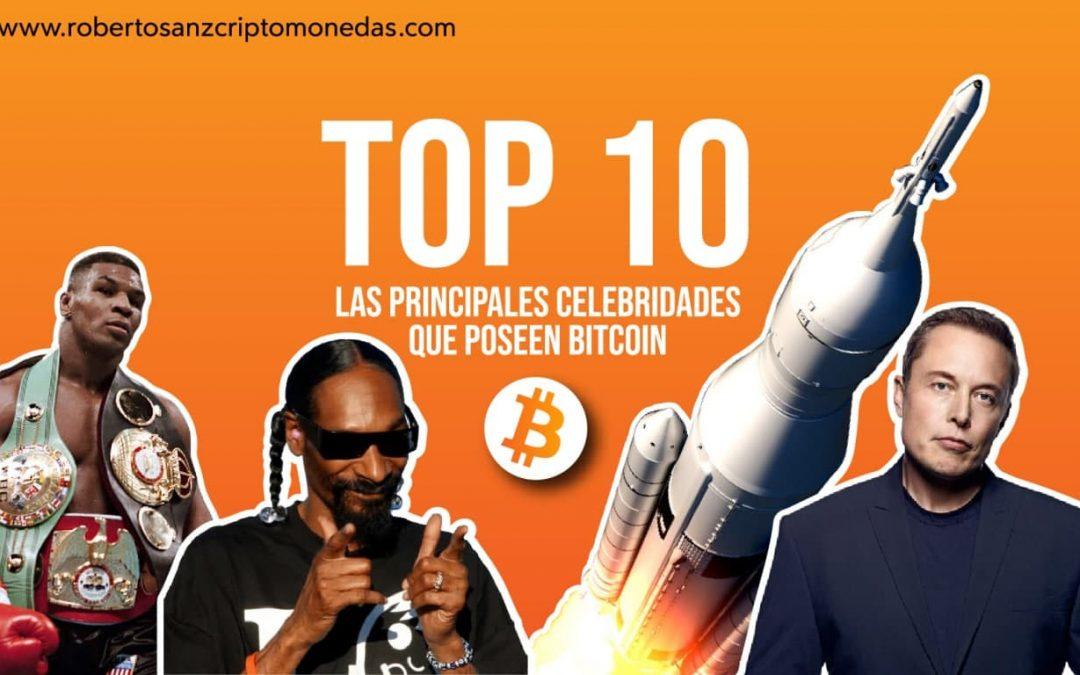 Top 10: Las principales celebridades que poseen Bitcoin